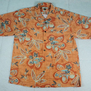 Tommy Bahama Silk Bup Tropical Shirt Medium